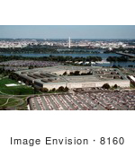 #8160 Photo Of The Pentagon On The Potomac River With A View Of The Washington Monument