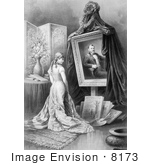 #8173 Picture Of Woman Looking At Painting Of Ulysses S Grant