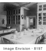 #8197 Picture Of A Kitchen Of The White House