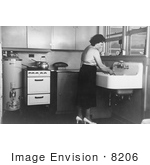 #8206 Picture Of Woman In Her Kitchen