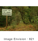 #821 Photography of an Animal Abandonment Warning Sign by Kenny Adams