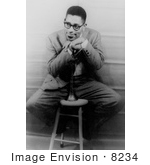 #8234 Picture Of Dizzy Gillespie Leaning On Trumpet