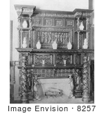 #8257 Picture Of Dining Room Mantel