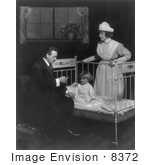 #8372 Picture Of A Doctor Inspecting A Child