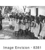 #8381 Picture Of Group Of Local Children Waiting To Receive A Smallpox Inoculation - 1968