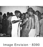 #8390 Picture Of People Receiving Smallpox Inoculations - 1968