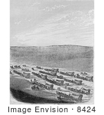 #8424 Picture Of A Caravan Of Emigrants