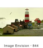 #844 Photography of Cat Houses at the Rouge River North Cat Jetty by Kenny Adams