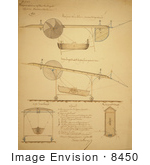 #8450 Picture of Airship Design Drawings by JVPD
