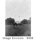 #8458 Picture Of An Airship Over The White House
