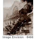 #8466 Picture Of The Montparnasse Train Wreck