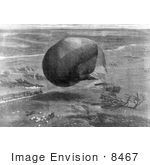 #8467 Picture Of Felix Nadar'S Balloon