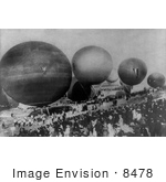 #8478 Picture Of The International Balloon Race Of 1908