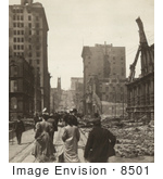 #8501 Picture Of California Street After Fire And Earthquake