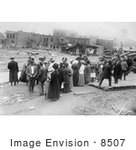 #8507 Picture Of People Standing By Creek Austin Dam Disaster