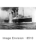 #8510 Picture Of The Attack On The Rms Lusitania