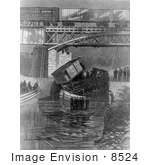 #8524 Picture Of The Great Railway Disaster Montreal Canada