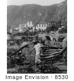 #8530 Picture of Martinique After Eruption of Mont Pelee by JVPD