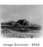 #8540 Picture Of Damaged Buildings After A Storm