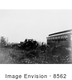 #8562 Picture Of A Train Wreck In Chatsworth