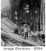 #8564 Picture of St Patrick's Church, Galveston Disaster by JVPD