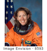 #8593 Picture Of Astronaut Sandra Hall Magnus