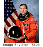 #8605 Picture Of Astronaut James Donald Halsell Jr
