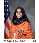 #8643 Picture of Astronaut Kalpana Chawla by JVPD