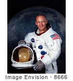 #8666 Picture Of Astronaut Buzz Aldrin