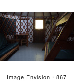 #867 Photography Of A Yurt Interior