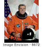 #8672 Picture Of Astronaut Dafydd Williams