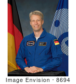 #8694 Picture Of Cosmonaut Thomas Arthur Reiter
