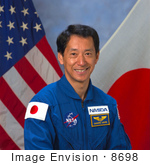 #8698 Picture Of Cosmonaut Mamoru Mohri