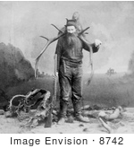 #8742 Picture Of A Man With Killed Elk
