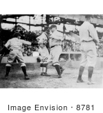 #8781 Picture Of The Great Bambino Making A Home Run