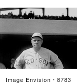#8783 Picture of The Great Bambino of the Boston Red Sox by JVPD