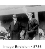 #8786 Picture of Babe Ruth and Ban Johnson Smoking by JVPD