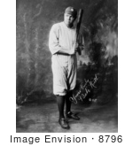 #8796 Picture Of The Great Bambino With A Bat