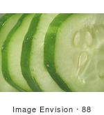 #88 Vegetable Picture Of A Sliced Cucumber