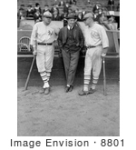 #8801 Picture Of Babe Ruth Jack Bentley And Jack Dunn