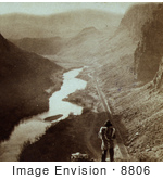 #8806 Picture Of A Native American Overlooking Humboldt River