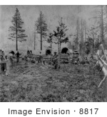 #8817 Picture Of A Camp Of The Mormons At Lake Tahoe