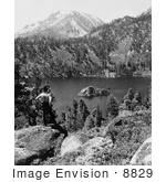 #8829 Picture Of A Man Overlooking Emerald Bay