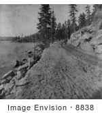 #8838 Picture Of A Dirt Road On Lake Tahoe