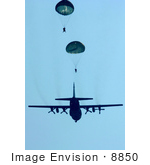 #8850 Picture Of People Parachuting From C-130 Hercules