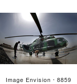 #8859 Picture Of Soldiers Washing A Helicopter