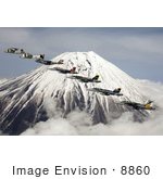 #8860 Picture Of Carrier Air Wing Five Near Mt Fuji
