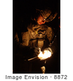 #8872 Picture Of A Soldier Sketching A Room