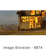 #8874 Picture Of A Burning Building