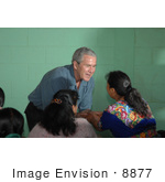 #8877 Picture Of George W Bush Greeting A Guatemalan Woman